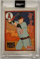 Topps PROJECT 2020 Card #63 - 2011 Mike Trout by Fucci *Print Run: 16,430*