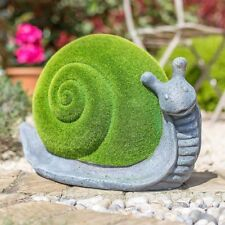 La Hacienda Flocked & Stone Effect Snail Garden Ornament
