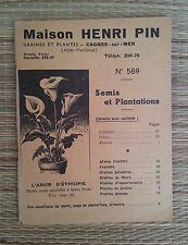 Antico catalogue pubblicitaria di scuola materna H. PIN,illustrato cagne su mare