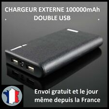 CHARGEUR EXTERNE 100000MAH 2 USB 1A 2,1A BATTERIE TABLETTE POWERBANK TELEPHONE
