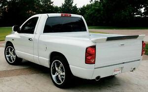 """Un-Painted Grey Prime Tailgate """"RST"""" Style Rear Spoiler for 2002-2008 DODGE RAM"""