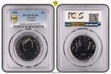 1981 PL66 CANADA ONE DOLLAR $1 VOYAGEUR PCGS GRADED PROOF LIKE GEM UNC