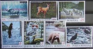 Romania,1992 -Nordic Fauna, 7 st.+1 M/Sh., MNH, RO 0102a