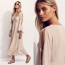 a9d8e88529ff Free People Pretty Midi Maxi Grecian Dress Cold Shoulder NATURAL XS MSRP  $198