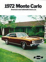1972 Chevrolet Monte Carlo 12-page Original Car Sales Brochure Catalog