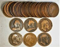 (39) Different Victoria to Elizabeth Great Britain One Penny Collection Lot #5