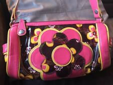 VERA BRADLEY Honor Roll Purse BUTTERCUP Frill Line, Round Shape, Excellent