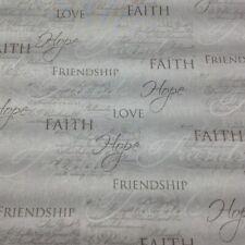 Religious Faith Hope Christian Love Friendship Jesus Fabric by FQ 18