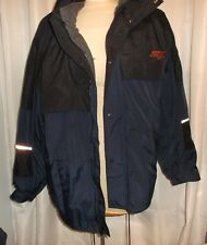 Cintas xxl men's lined jacket navy blue polyurethane gray lining
