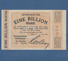 WITTENBERGE 1 Billion Mark 1923 Erh. II / XF