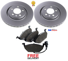 FOR VW GOLF 2.0 GTI MK4 115 BHP (1998-2004) FRONT 2 BRAKE DISCS & PADS SET *NEW*