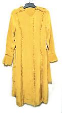 Mustard Silk Belted Dress