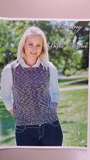 Bella STORIA Knitting Pattern #107 to Knit Ladies Vest in 8 Ply Tuscany Yarn
