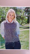 Bella Storia Knitting Pattern #107 To Knit Ladies Vest in 8 Ply Tuscany Yarn