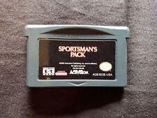 Sportsmans Pack Nintendo Gameboy Advance Juego Big Game Hunter Rapala Pesca