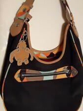 DESIGNER KIPLING Black Nylon Handbag / Shoulder Bag Hobo Medium Purse.
