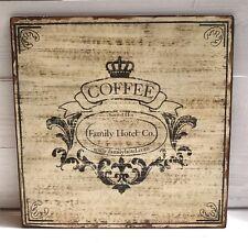 Nostalgie Blechschild Metallschild Coffee Krone Schild beige Vintage