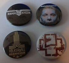 4 Rammstein button badges 25mm Seemann Liebe ist für alle da Völkerball Metal