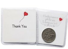 'Thank you' Themed Lucky Sixpence Gift as Wedding Favours for friends family