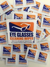 40 Safety Glasses Cleaning Wipes *pre moistened*