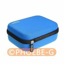 Blue Carry EVA Case Bag Box Protection w/ Battery Space for GoPro Hero 3 Camera