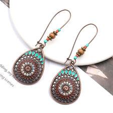 Diamond Dangling Earrings Jewellery D Elegant Water Drop Hollowed Flower Faux