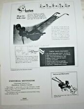 Copy of vintage ads featuring Page Farm Equipment, Bantam One Wheel Tractor