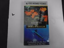 SECRETS OF THE OCEAN REALM VHS NEW -CATHEDRAL & SURVIVAL IN THE SEA