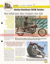 HARLEY DAVIDSON FXCW 1584 Rocker 2008 Joe Bar Team Fiche Moto #002682
