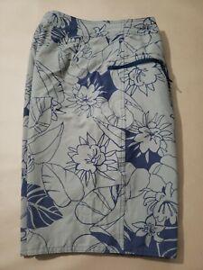 Patagonia Men's Floral Boardshorts Swim Trunks Side Zipped Pocket Size 32x9