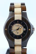 Bewell holzuhr fecha 42mm arce-sándalo reloj hombre fantastico a-ware Tracht