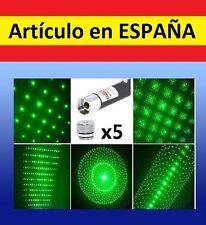 5x CABEZALES Puntero Laser VERDE militar GRAN ALCANCE laser pointer 532nm<1mW