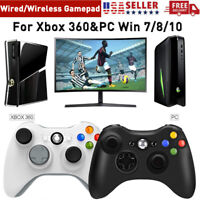 Wired / Wireless Game Controller For XBOX 360 &PC WIN 7 8 10 Gamepad Joystick US