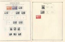 Norfolk Collection 1947-1992 On 25 Scott International & Minkus Pages