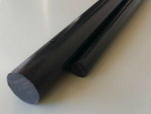 BARRA TONDA DELRIN POM C NERO - Diametro da 20 a 80 mm - Scegli la lunghezza