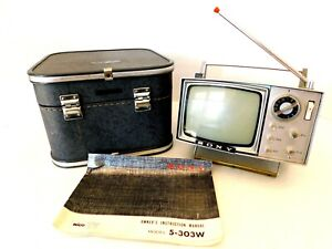 MICRO 1960s NEAR MINT SONY TELEVISION ANTIQUE OLD TRANSISTOR TV RETRO SPACE AGE