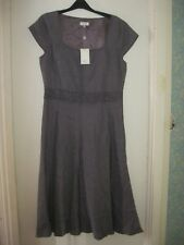 LADIES CC FULLY LINED PLUM COLOURED DRESS WITH BEADED TRIM. SIZE 12.