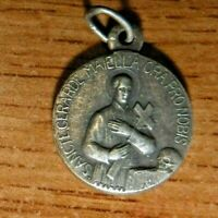 Antique Catholic Medal of St Gerard and Our Lady of Perpetual Help, in Latin