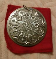 Towle 1978 12 Days of Christmas 8 Maids Milking Sterling Silver Ornament 2.25""