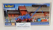 Kibri H0 11290 Magirus-deutz Eckhauber mit Pelle Mécanique Fuchs
