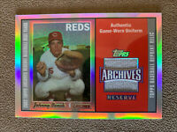 2002 Topps Archives Reserve Johnny Bench Game Used Jersey - Cincinnati Reds