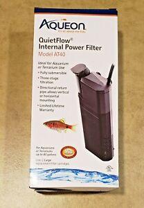Aqueon QuietFlow AT40 Submersible Internal Aquarium Filter 170 gph FREE SHIPPING