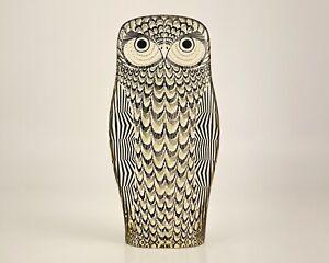 """Vintage Abraham Palatnik Acrylic Lucite 8 3/4"""" Stylized Owl Figurine c1970-80s"""