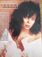 JANET JACKSON 'in a black wig' magazine PHOTO/Poster/clipping 11x8 inches