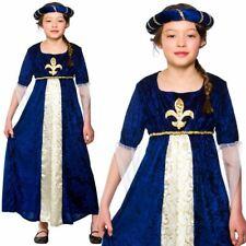 Kids Girls Tudor Princess Juliet Medieval Queen Book Week Fancy Dress Costume