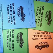 TAXI ACCOUNTS daily weekly PRO LOG BOOK record keeping meter cab driver HMRC BGS