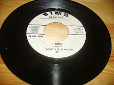 RARE Bobby Lee Trammell Rockabilly 45 rpm Sims PROMO Record Label Vinyl