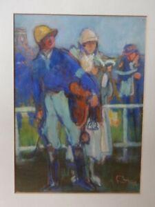 Louis Fortuney 1875 - 1951 pastel le jockey