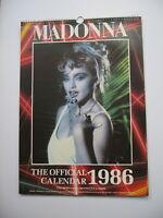 Madonna Calendar 1986 unused