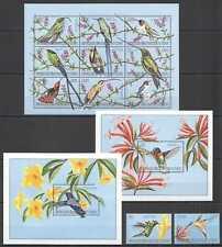 J0173 2000 CONGO FAUNA BIRDS COLIBRI #1487-97 MICHEL 33 EURO 1KB+2BL+1SET MNH